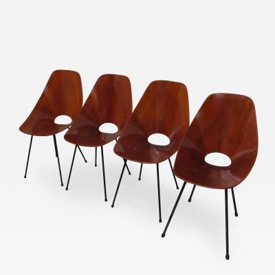 Vittorio Nobili Four Chairs Medea by Vittorio Nobili Italy 1950s