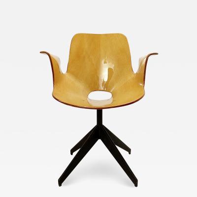 Vittorio Nobili Swivel Chair Medea By Vittorio Nobili For Fratelli Tagliabue
