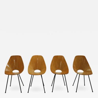 Vittorio Nobili Vittorio Nobili Medea 1950s Italian Set of Four Chairs