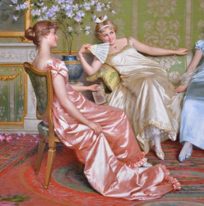 Vittorio Reggianini Casanova 19th Century Italian Oil Painting of Italian Lover