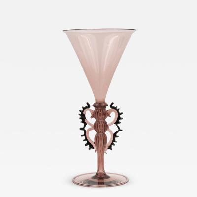Vittorio Zecchin A Vintage Vittorio Zecchin attr Venini Murano blown glass fluted vase