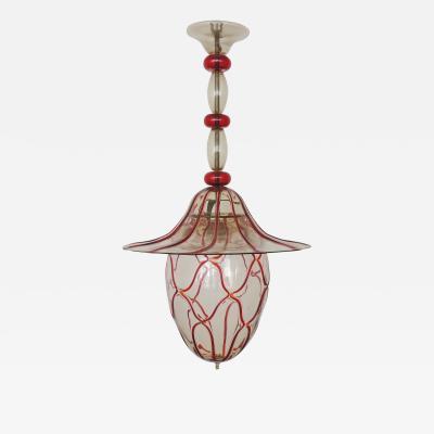 Vittorio Zecchin Vittorio Zecchin Murano glass ceiling lamp Italy 1920s