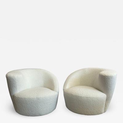 Vladamir Kagan Nautilus Swivel Lounge Chairs