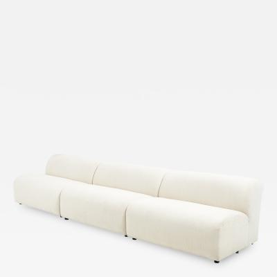 Vladimir Kagan 3 Piece Modular Sofa by Vladimir Kagan for Preview 1988