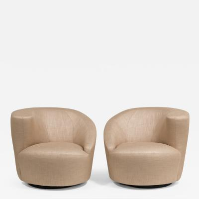 Vladimir Kagan A Pair of Vladimir Kagan Designed Nautilus Swivel Chairs 1980s