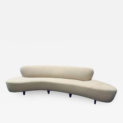 Vladimir Kagan Cloud Sofa with Walnut Legs in the Style of Vladimir Kagan 1960s