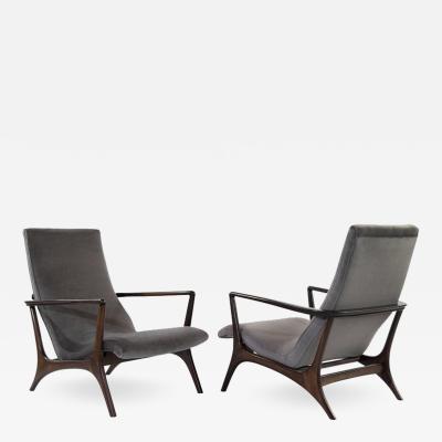 Vladimir Kagan Contour Lounge Chairs by Vladimir Kagan