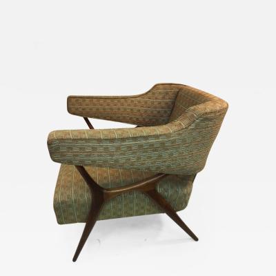 Vladimir Kagan Great Mid Century Chair in the manner of Vladimir Kagan