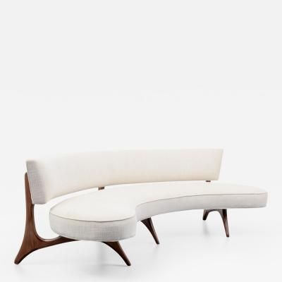 Vladimir Kagan Kagan 176 SC Floating Seat Back Sofa