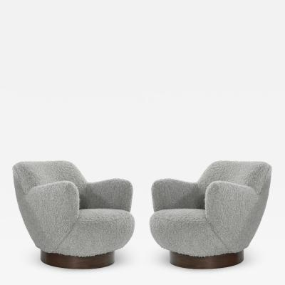 Vladimir Kagan Kagan Dreyfuss Swivel Chairs Model 100A by Vladimir Kagan circa 1960s