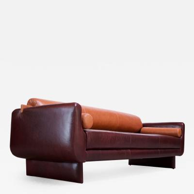 Vladimir Kagan Leather Matinee Sofa Daybed by Vladimir Kagan