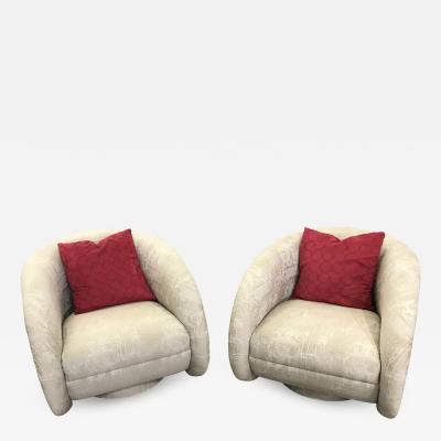 Vladimir Kagan Pair Of Swivel Kagan Chairs