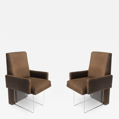 Vladimir Kagan Pair of Clos Armchairs by Vladimir Kagan