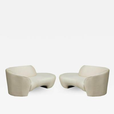 Vladimir Kagan Pair of Mid Century Modern Cloud Sofas or Chaise Lounges by Vladimir Kagan
