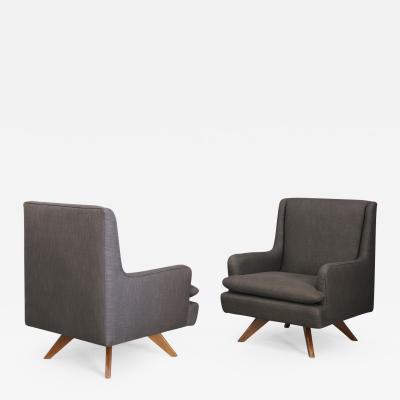 Vladimir Kagan Pair of MidCentury grey armchairs by Vladimir Kagan 1960s