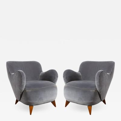 Vladimir Kagan Pair of Vladimir Kagan Mid Century Barrel Chairs Designed Documented 1947