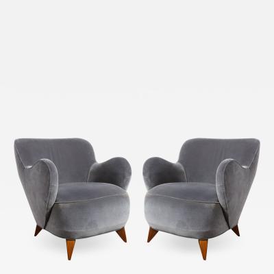Vladimir Kagan Pair of Vladimir Kagan Mid Century Barrel Chairs Designed Documented 1947