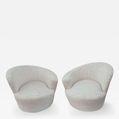 Vladimir Kagan Pair of Vladimir Kagan Swivel Chairs