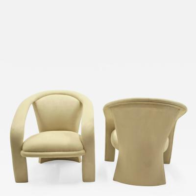 Vladimir Kagan Pop Modern Pair of Armchairs Baughman Style by Carsons 1980s