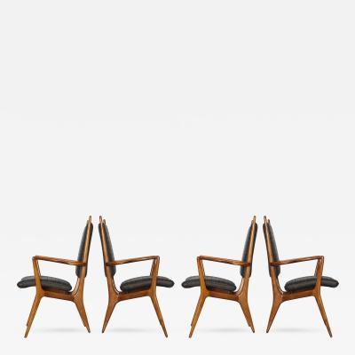 Vladimir Kagan Rare Set of Four Armchairs by Vladimir Kagan