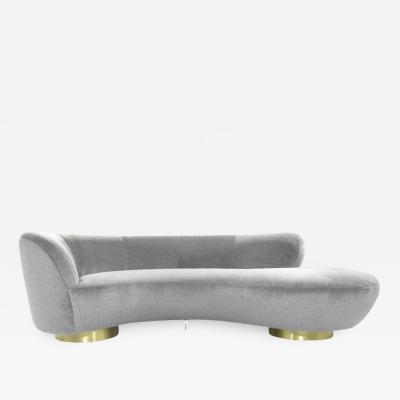 Vladimir Kagan Serpentine Sofa by Vladimir Kagan in Grey Royal Alpaca