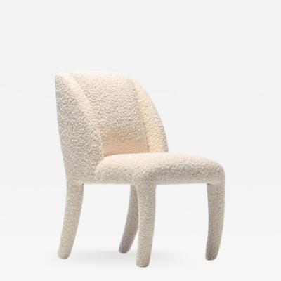 Vladimir Kagan Set of 12 Vladimir Kagan for Directional Dining Chairs in Ivory White Boucl