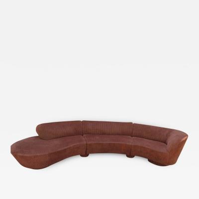 Vladimir Kagan Spectacular Vladimir Kagan Curved 3 Piece Cloud Sofa Sectional Directional