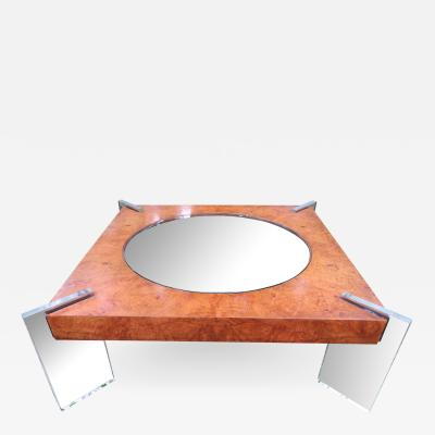 Vladimir Kagan Stunning Vladimir Kagan Lucite and Burl Walnut Coffee Table Mid Century