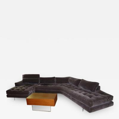 Vladimir Kagan Stunning Vladimir Kagan Three Piece Omnibus Sectional Sofa Coffee Table