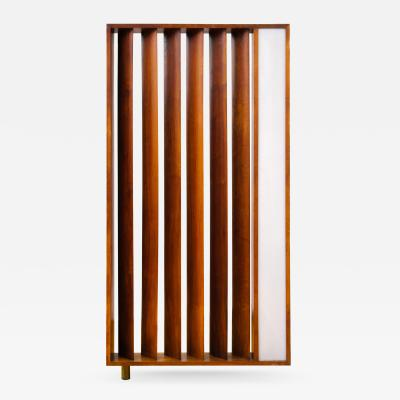 Vladimir Kagan Vladimir Kagan Architectural Louvered Illuminated Room Divider w COA 1967