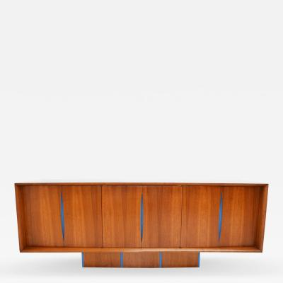 Vladimir Kagan Vladimir Kagan Bow Front Credenza with Hutch Available