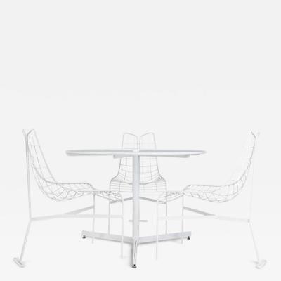 Vladimir Kagan Vladimir Kagan Capricorn Outdoor Dining Chairs and Table circa 1958 Restored