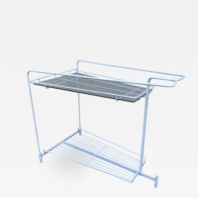 Vladimir Kagan Vladimir Kagan Capricorn iron Glass Bar Cart