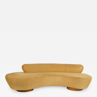 Vladimir Kagan Vladimir Kagan Cloud Sofa for Directional with Oak Pedestal Base