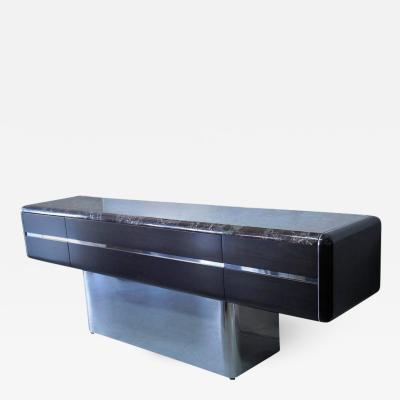 Vladimir Kagan Vladimir Kagan Console Credenza with Marble Top and Polished Base