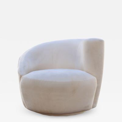 Vladimir Kagan Vladimir Kagan Corkscrew Swivel Lounge Arm Chair