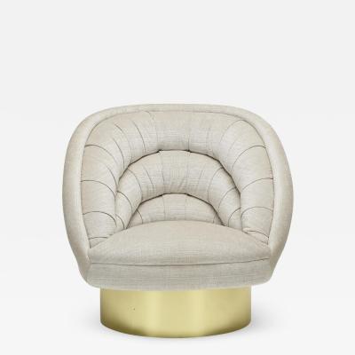 Vladimir Kagan Vladimir Kagan Designs Crescent Swivel Club Chair