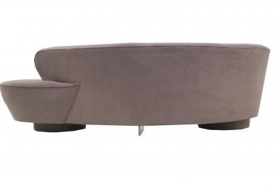Vladimir Kagan Vladimir Kagan Directional Serpentine Brown Sofa