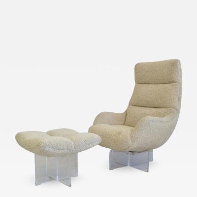 Vladimir Kagan Vladimir Kagan Lucite Lounge Chair and Ottoman