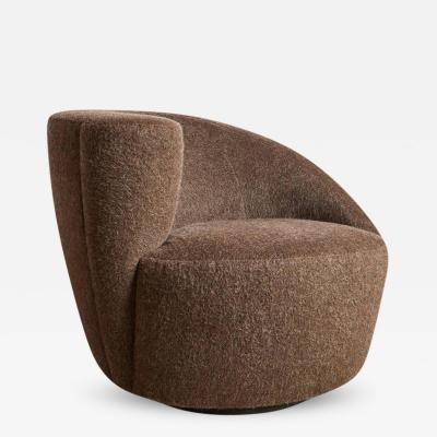 Vladimir Kagan Vladimir Kagan Nautilus Swivel Chair for Directional Restored