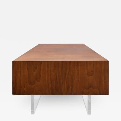 Vladimir Kagan Vladimir Kagan Rare Omnibus Side Table in Walnut and Lucite 1975