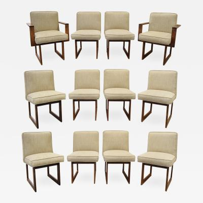 Vladimir Kagan Vladimir Kagan Rare Set of 12 Cubist Dining Chairs 1960s