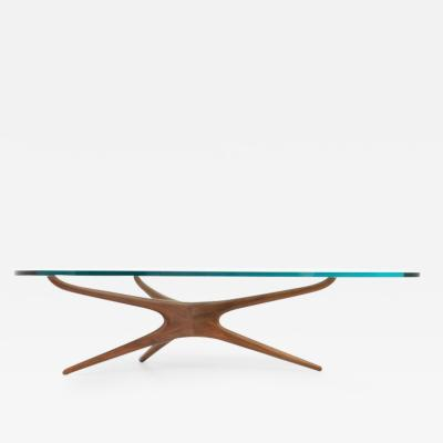 Vladimir Kagan Vladimir Kagan Sculptural Walnut Coffee Table