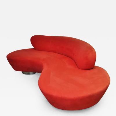 Vladimir Kagan Vladimir Kagan Serpentine Sofa on Chrome Bases