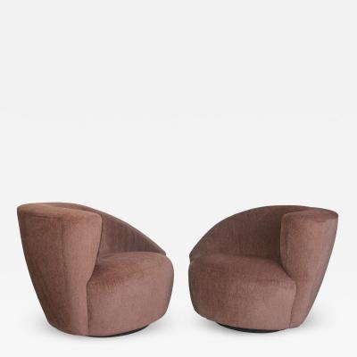 Vladimir Kagan Vladimir Kagan Swivel Lounge Chairs