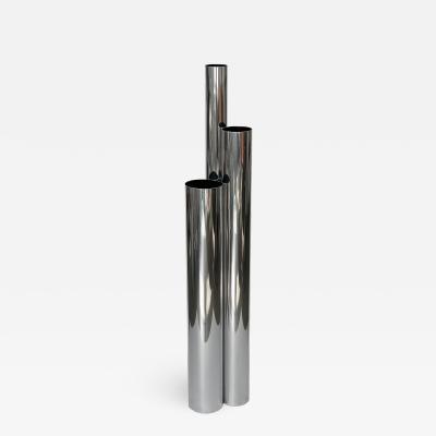 Vladimir Kagan Vladimir Kagan Tubular Polished Aluminum Skyscraper Floor Lamp
