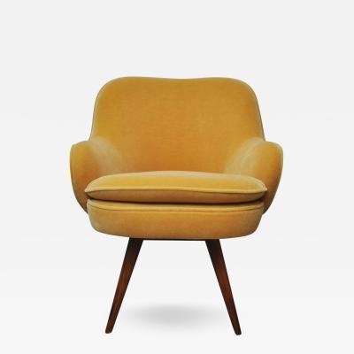 Vladimir Kagan Vladimir Kagan Walnut Frame Lounge Armchair