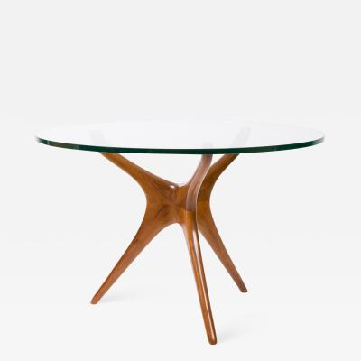 Vladimir Kagan Walnut Center or Dining Table by Vladimir Kagan