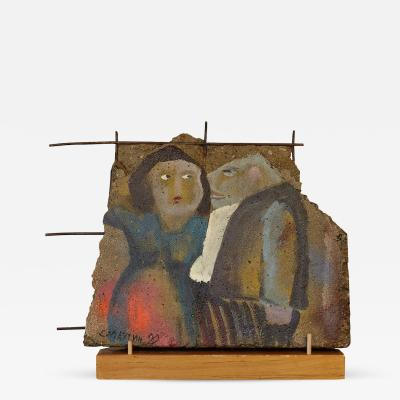 Vladimir Smachtin Marital Discord Piece of History from the Berlin Wall Art Collection