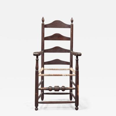 WILLIAM AND MARY SLAT BACK ARM CHAIR